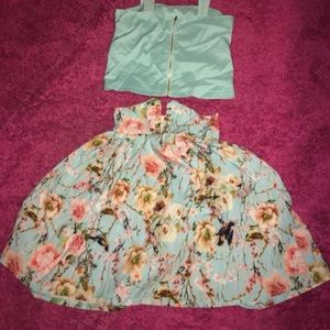 Ariana grande style 2 piece dress